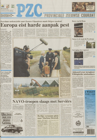 Provinciale Zeeuwse Courant 1997-08-29