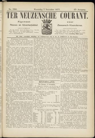 Ter Neuzensche Courant. Algemeen Nieuws- en Advertentieblad voor Zeeuwsch-Vlaanderen / Neuzensche Courant ... (idem) / (Algemeen) nieuws en advertentieblad voor Zeeuwsch-Vlaanderen 1877-11-07