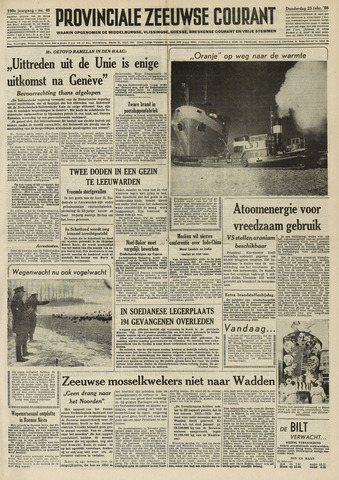 Provinciale Zeeuwse Courant 1956-02-23