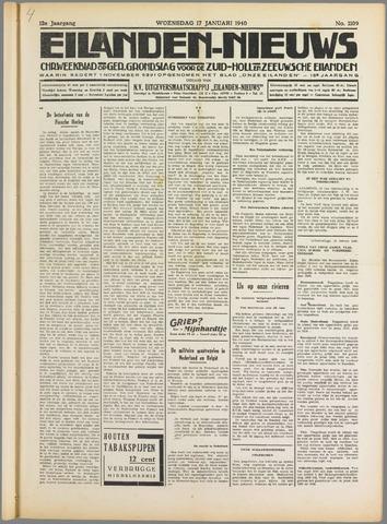 Eilanden-nieuws. Christelijk streekblad op gereformeerde grondslag 1940-01-17