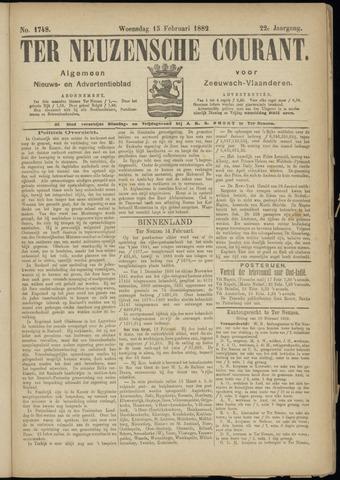 Ter Neuzensche Courant. Algemeen Nieuws- en Advertentieblad voor Zeeuwsch-Vlaanderen / Neuzensche Courant ... (idem) / (Algemeen) nieuws en advertentieblad voor Zeeuwsch-Vlaanderen 1882-02-15