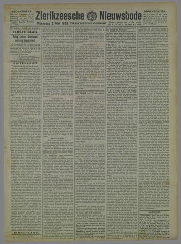 Zierikzeesche Nieuwsbode 1923-05-02