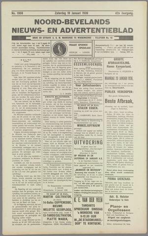 Noord-Bevelands Nieuws- en advertentieblad 1936-01-18