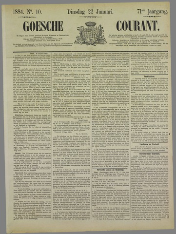 Goessche Courant 1884-01-22