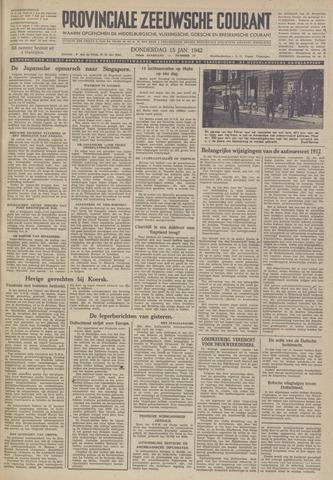 Provinciale Zeeuwse Courant 1942-01-15