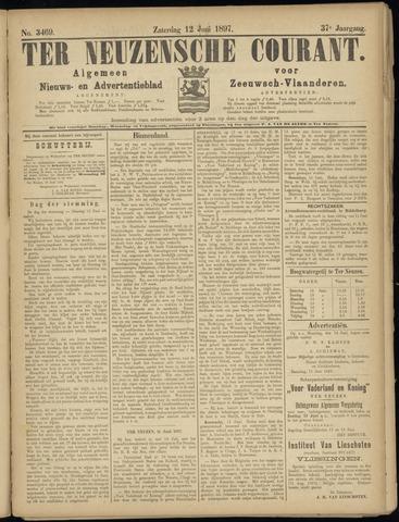 Ter Neuzensche Courant. Algemeen Nieuws- en Advertentieblad voor Zeeuwsch-Vlaanderen / Neuzensche Courant ... (idem) / (Algemeen) nieuws en advertentieblad voor Zeeuwsch-Vlaanderen 1897-06-12