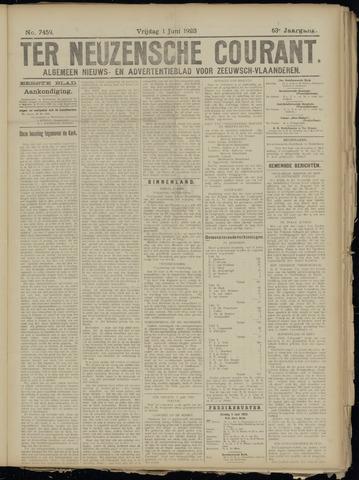 Ter Neuzensche Courant. Algemeen Nieuws- en Advertentieblad voor Zeeuwsch-Vlaanderen / Neuzensche Courant ... (idem) / (Algemeen) nieuws en advertentieblad voor Zeeuwsch-Vlaanderen 1923-06-01