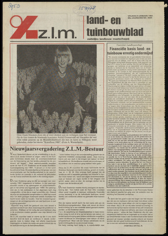 Zeeuwsch landbouwblad ... ZLM land- en tuinbouwblad 1981-01-09