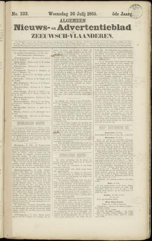 Ter Neuzensche Courant. Algemeen Nieuws- en Advertentieblad voor Zeeuwsch-Vlaanderen / Neuzensche Courant ... (idem) / (Algemeen) nieuws en advertentieblad voor Zeeuwsch-Vlaanderen 1865-07-26