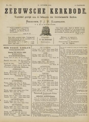 Zeeuwsche kerkbode, weekblad gewijd aan de belangen der gereformeerde kerken/ Zeeuwsch kerkblad 1890-10-25
