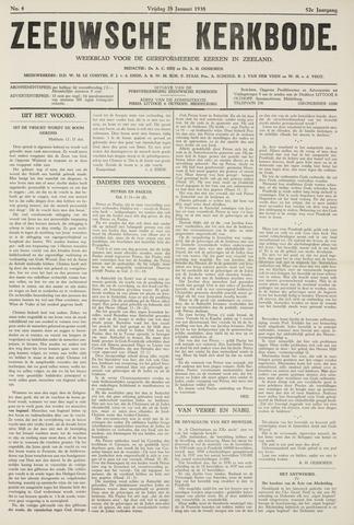 Zeeuwsche kerkbode, weekblad gewijd aan de belangen der gereformeerde kerken/ Zeeuwsch kerkblad 1938-01-28