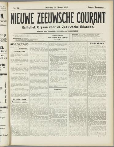 Nieuwe Zeeuwsche Courant 1905-03-21