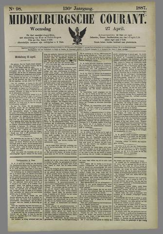 Middelburgsche Courant 1887-04-27