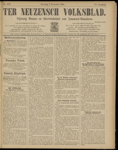 Ter Neuzensch Volksblad. Vrijzinnig nieuws- en advertentieblad voor Zeeuwsch- Vlaanderen / Zeeuwsch Nieuwsblad. Nieuws- en advertentieblad voor Zeeland 1916-12-02