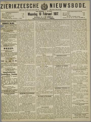 Zierikzeesche Nieuwsbode 1917-02-19
