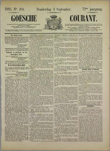 Goessche Courant 1885-09-03