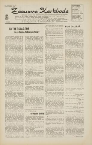 Zeeuwsche kerkbode, weekblad gewijd aan de belangen der gereformeerde kerken/ Zeeuwsch kerkblad 1966-11-11