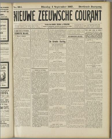 Nieuwe Zeeuwsche Courant 1917-09-04