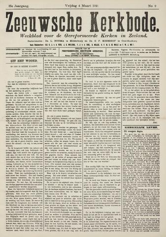 Zeeuwsche kerkbode, weekblad gewijd aan de belangen der gereformeerde kerken/ Zeeuwsch kerkblad 1921-03-04