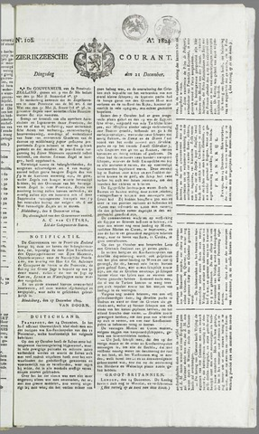 Zierikzeesche Courant 1824-12-21