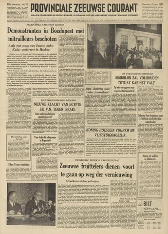 Provinciale Zeeuwse Courant 1957-01-12