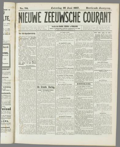 Nieuwe Zeeuwsche Courant 1917-06-16