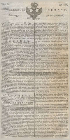 Middelburgsche Courant 1776-11-16
