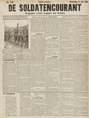 De Soldatencourant. Orgaan voor Leger en Vloot 1916-07-05