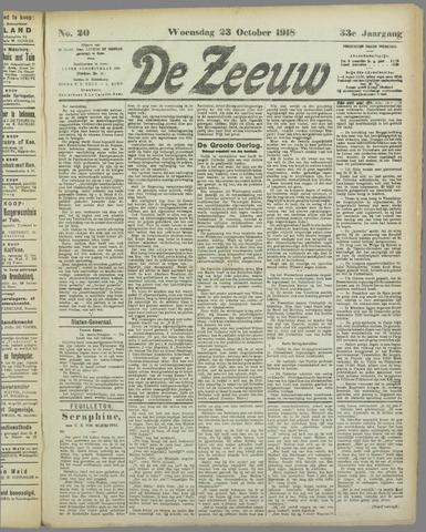 De Zeeuw. Christelijk-historisch nieuwsblad voor Zeeland 1918-10-23