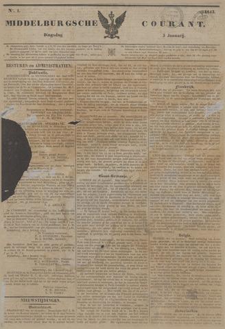 Middelburgsche Courant 1843-01-03