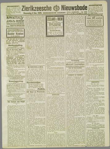 Zierikzeesche Nieuwsbode 1926-12-08