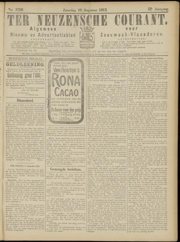 Ter Neuzensche Courant. Algemeen Nieuws- en Advertentieblad voor Zeeuwsch-Vlaanderen / Neuzensche Courant ... (idem) / (Algemeen) nieuws en advertentieblad voor Zeeuwsch-Vlaanderen 1912-08-10
