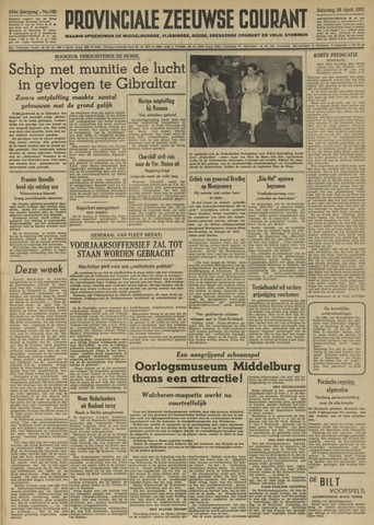 Provinciale Zeeuwse Courant 1951-04-28