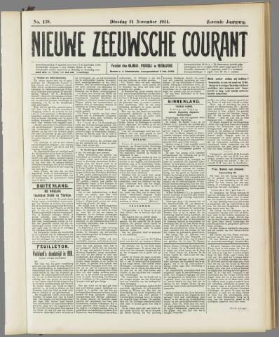 Nieuwe Zeeuwsche Courant 1911-11-21