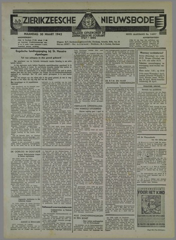 Zierikzeesche Nieuwsbode 1942-03-30