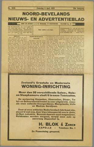 Noord-Bevelands Nieuws- en advertentieblad 1933-04-08
