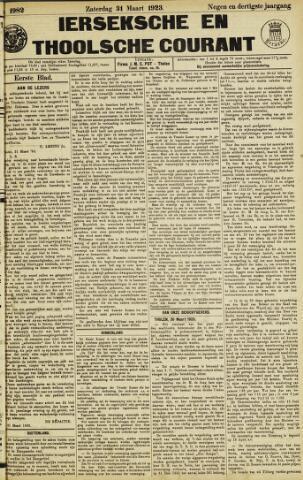 Ierseksche en Thoolsche Courant 1923-03-31