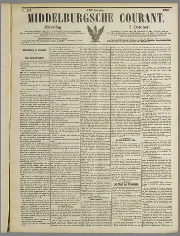 Middelburgsche Courant 1905-10-07