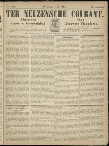 Ter Neuzensche Courant. Algemeen Nieuws- en Advertentieblad voor Zeeuwsch-Vlaanderen / Neuzensche Courant ... (idem) / (Algemeen) nieuws en advertentieblad voor Zeeuwsch-Vlaanderen 1883-07-04