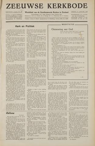 Zeeuwsche kerkbode, weekblad gewijd aan de belangen der gereformeerde kerken/ Zeeuwsch kerkblad 1958-01-17