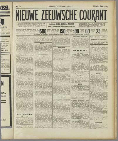 Nieuwe Zeeuwsche Courant 1914-01-13