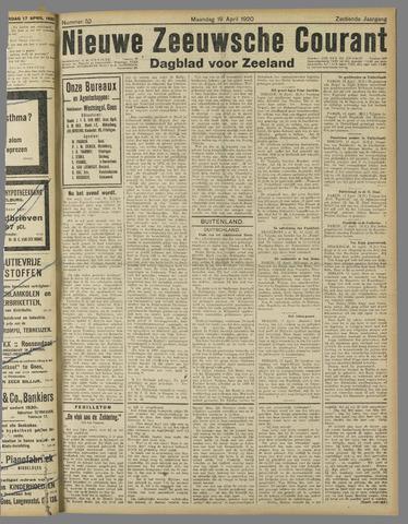 Nieuwe Zeeuwsche Courant 1920-04-19