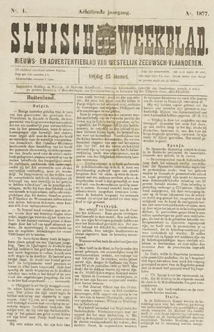 Sluisch Weekblad. Nieuws- en advertentieblad voor Westelijk Zeeuwsch-Vlaanderen 1877-01-26