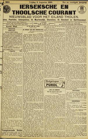 Ierseksche en Thoolsche Courant 1928-08-03