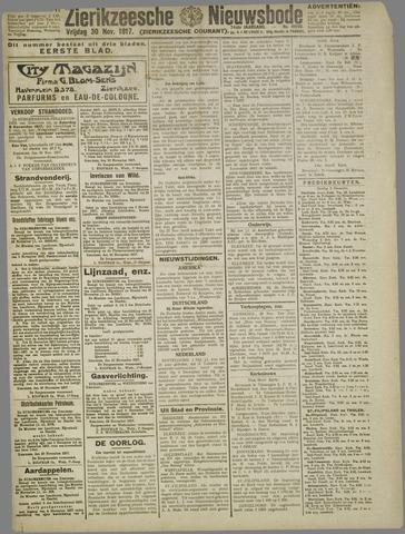 Zierikzeesche Nieuwsbode 1917-11-30