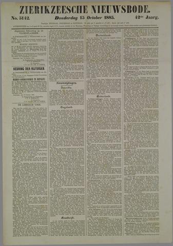 Zierikzeesche Nieuwsbode 1885-10-15