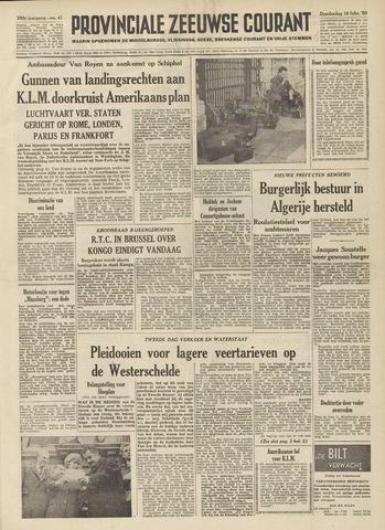 Provinciale Zeeuwse Courant 1960-02-18