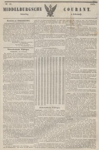 Middelburgsche Courant 1851-02-08