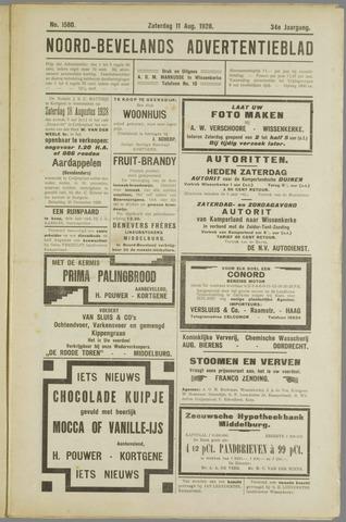 Noord-Bevelands Nieuws- en advertentieblad 1928-08-11
