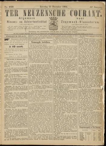 Ter Neuzensche Courant. Algemeen Nieuws- en Advertentieblad voor Zeeuwsch-Vlaanderen / Neuzensche Courant ... (idem) / (Algemeen) nieuws en advertentieblad voor Zeeuwsch-Vlaanderen 1904-12-31